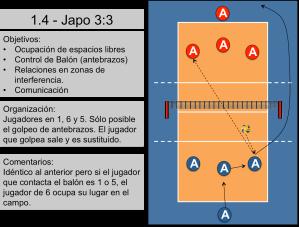 Ejercicio de calentamiento de voleibol 4