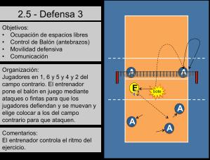 Ejercicio de Defensa Voleibol